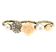 Diamond Rose Pearl Flower Three Refers To The Ring