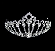 Women's Rhinestone / Alloy Headpiece-Wedding Tiaras Clear