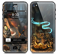 Cartoon Design Love Pattern Front and Back Screen Protector Film for iPhone 4/4S