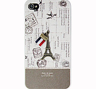 Eiffel Tower Pattern Hard Case for iPhone 4/4S