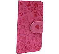 cuoio cute cartoon ragazza valigia piena modello per 5/5s iphone (rosa)