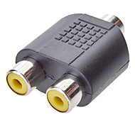 3.5mm Audio to 2RCA F/F Adapter