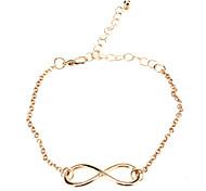 plaqué or shixin® alliage charme infini avec une chaîne de bracelet réglable