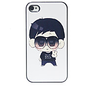 Cute Sunglasses Boy Pattern Hard Case for iPhone 4/4S