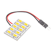 T10/BA9S/Festoon 2.5W 10x5730SMD Warm White Light LED Bulb for Car Reading Lamp (12V)
