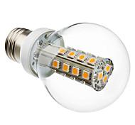 5W E26/E27 LED Kugelbirnen G60 27 SMD 5050 280 lm Warmes Weiß AC 220-240 V