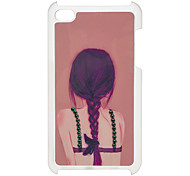 Back of Woman Pattern Hard Case with Rhinestone for iPod Touch 4
