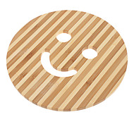 "6.5"" Smile Face Pattern Bamboo Coaster"