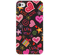 Hou Pattern Hard Case voor iPhone 4/4S