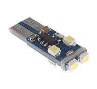 T10 0.5W 6x3528SMD Luz Blanca Bombilla para instrumentos del coche / Side Marker Lamp CANBUS (12V) LED