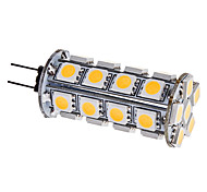 G4 3.5W 30x5050SMD 280-310LM 3000-3500K bianco caldo lampadina LED Light Corn (12V)