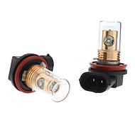 H11 12W White Light Cree LED Bulb for Car Fog Lamp (DC 12-24V, 1-Pair)