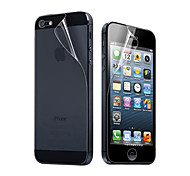6X Clear Front and Back Screen Protector for iPhone 5