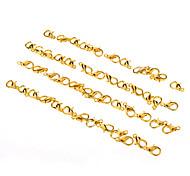 10 * 5 mm de metal de oro bisutería joyería hebilla * 50