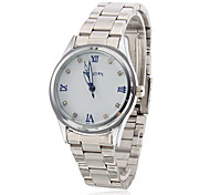 Frauen-Quarz Analog Armbanduhr (Silber)