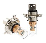 H4 12W White Light Cree LED Bulb for Car Fog Lamp (DC 12-24V, 1-Pair)