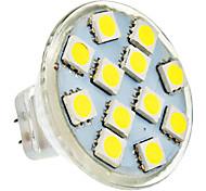 GU4 2 W 12 SMD 5050 150 LM Natural White MR11 Spot Lights DC 12/AC 12 V