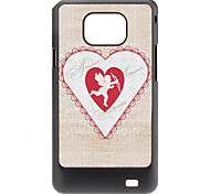 Rood hart patroon Hard Case voor Samsung Galaxy S2 I9100