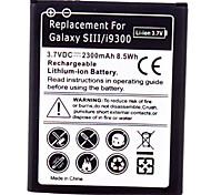 Bateria de telefone celular para Samsung Galaxy SIII/9300 (3.7V, 2300mAh)