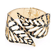 European Style Hollow Leaves Exaggerated Fashion Bangles