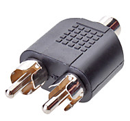 1RCA TO 2RCA F / M Adapter