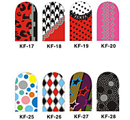 12PCS 3D Full-cover Nail Art Stickers Cartoon Spot Series(NO.3,Assorted Color)