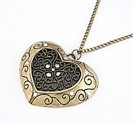 Coppery Pendant Necklaces / Vintage Necklaces Daily Jewelry