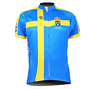 KOOPLUS® Cycling Jersey Men's Short Sleeve Bike Breathable / Waterproof Zipper / Front Zipper / Wearable Jersey / Tops 100% Polyester
