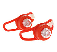 Super Bright LED Bicycle Silicone Red Safety Rear Light (2-pcs)