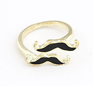 Alloy Acrylic Double-Mustache Pattern Ring (Assorted Colors)