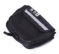 Bike Bicycle Frame Pannier Front Tube Terylene Bag (Black)
