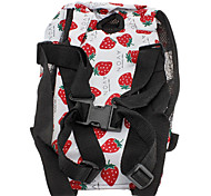 6 Holes Type Strawberries Pattern Nylon Pet Travel Backpack for Dogs