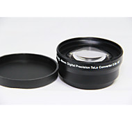 49mm 2.0x TELE Telephoto LENS for Digital Camera DSLR 49 2.0 Black