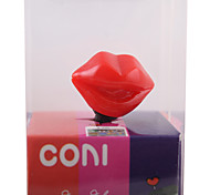 3.5mm Sexy Red Lips Pattern Anti-dust Plug