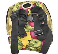 6 Holes Type Fruit Pattern Nylon Pet Travel Backpack for Dogs
