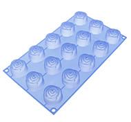 Rosa em forma de bolo silicone Moldes Biscuit
