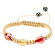 Section Water And Hand-woven Crystal Ball Bracelet