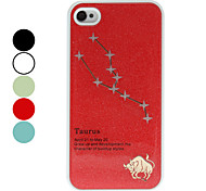 Frosted Constellation Caso duro del patrón Taurus para iPhone 4/4S (colores surtidos)