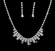 Jewelry Set Women's Anniversary / Wedding / Engagement / Birthday / Party / Special Occasion Jewelry Sets Alloy RhinestoneNecklaces /