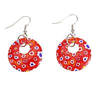Circular Coloured Glaze Earring