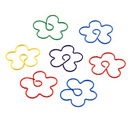 Plum Blossom Shape Metal Paper Clips (10PCS Random Color)
