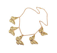 Gold Plated Alloy Butterfly Pendant Neckalce