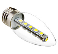 3W E26/E27 Luces LED en Vela C35 16 SMD 5050 180 lm Blanco Fresco Decorativa AC 100-240 V