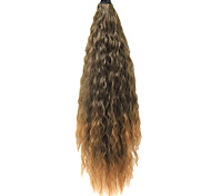 "22"" Clip in Hair Extensions Flick Ends Brown Ponytail"