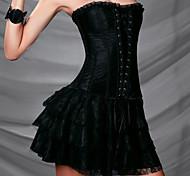 Dark Castle de encaje de flores de seda Gothic Lolita Corset (sin falda)