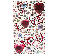 Romantic I Love You Heart Shape Jewelry Protective Body Sticker for Cellphone