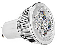 GU10 6W 4 High Power LED 330 LM Warm White / Cool White LED Spotlight AC 85-265 V
