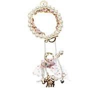 Z&X®  Fashion Double Elephant Coin Charms Pearl Bracelet