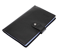 300 Slots Black PU Leather Cover Business Card Holder