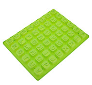 26 letras em forma de Silicone Chocolate Biscuit moldes